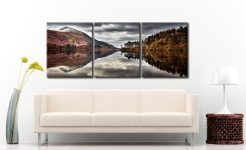 Thirlmere Late Autumn - 3 Panel Canvas on Wall