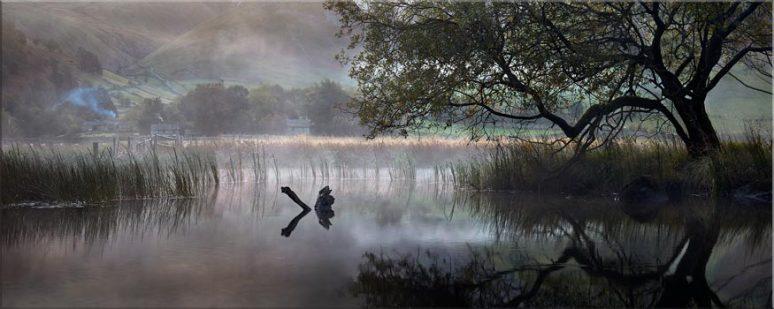 Hartsop Misty Morning - Lake District Canvas