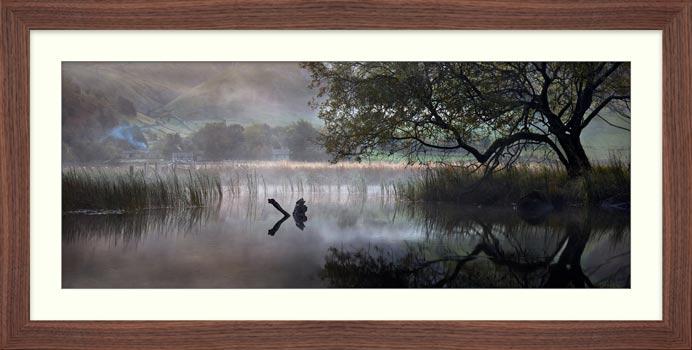 Hartsop Misty Morning - Framed Print with Mount