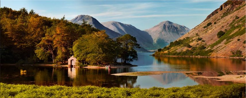 Wast Water Boathouse - Lake District Canvas