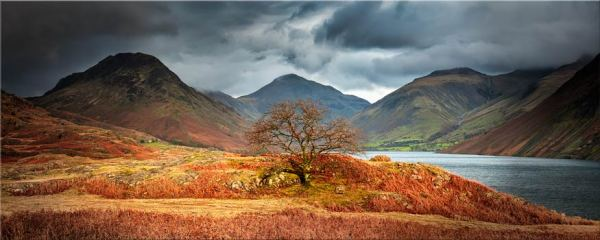Darkness and Light at Wast Water - Canvas Print