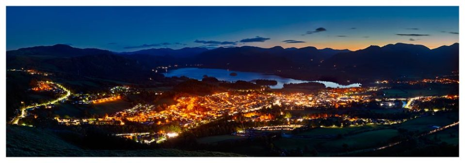 Keswick at Night - Lake District Print