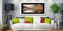 Bright Lights on Buttermere - Framed Print with Mount on Wall