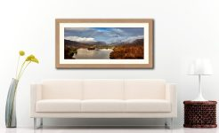 Clouds Mist Rainbow Grasmere - Framed Print with Mount on Wall