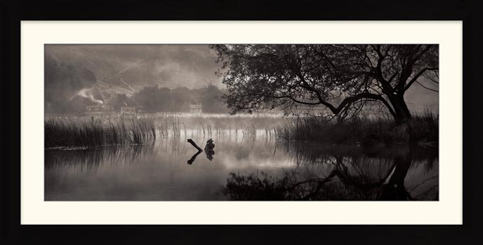 Hartsop Misty Morning - Black White Framed Print