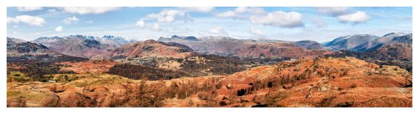 The Langdale Mountains - Lake District Print