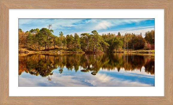 Tarn Hows Autumn Reflections - Framed Print