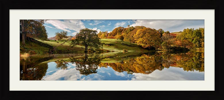 Loughrigg Tarn Autumn Reflections - Framed Print
