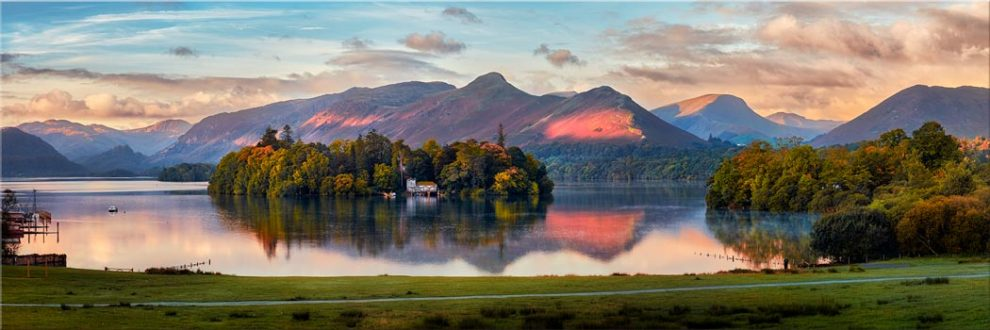 Derwent Water First Light - Canvas Print