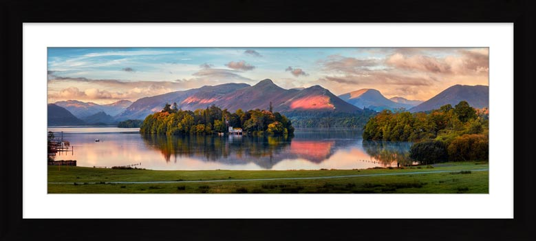 Derwent Water First Light - Framed Print