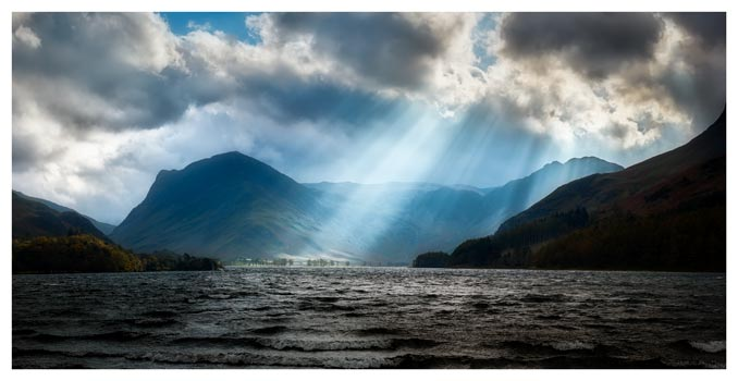 Sunbeams Over Buttermere - Lake District Print