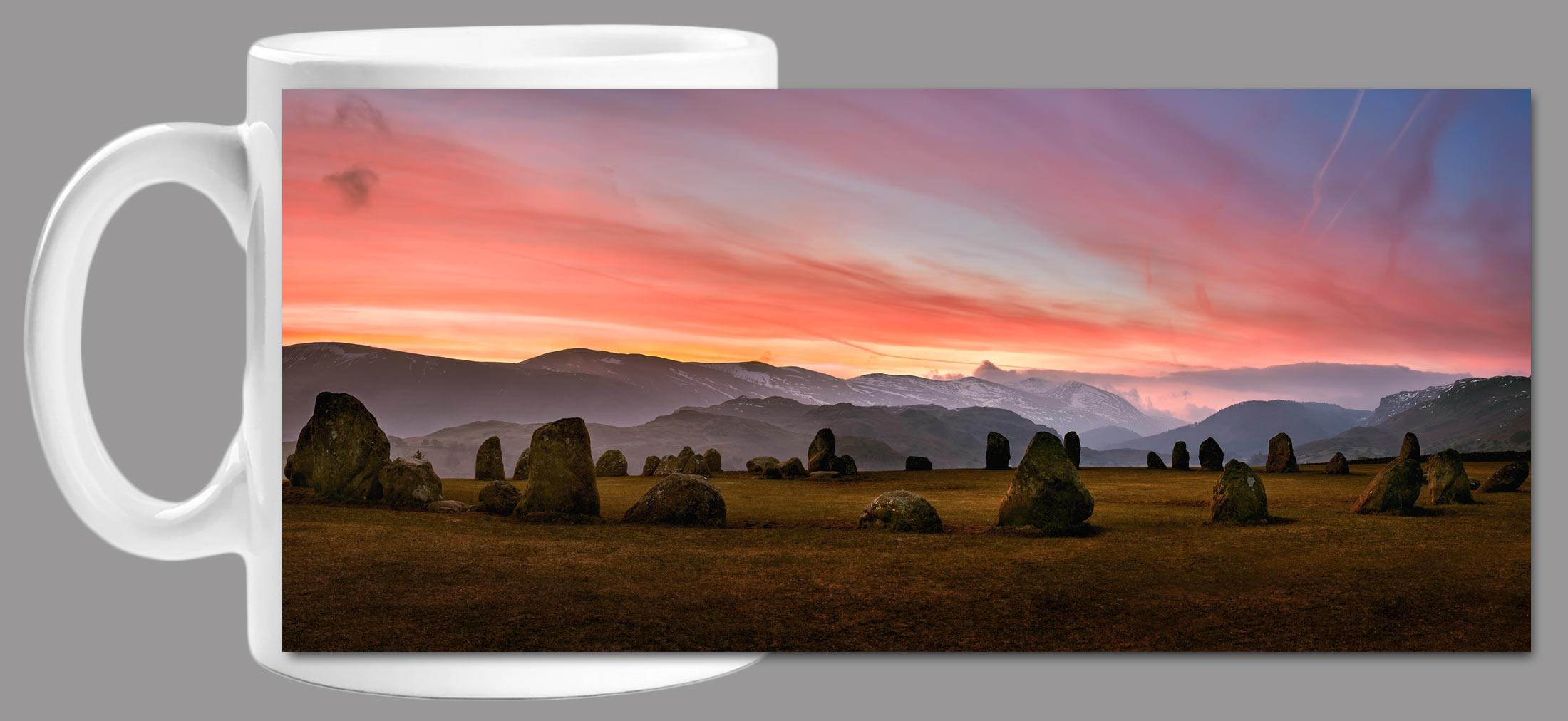 Dawn Skies Over Castlerigg Mug
