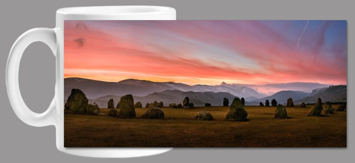 Dawn Skies Over Castlerigg Mug