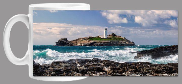 Godrevy Lighthouse Panorama Mug