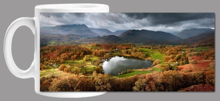 Loughrigg Tarn Autumn Sunlight Mug