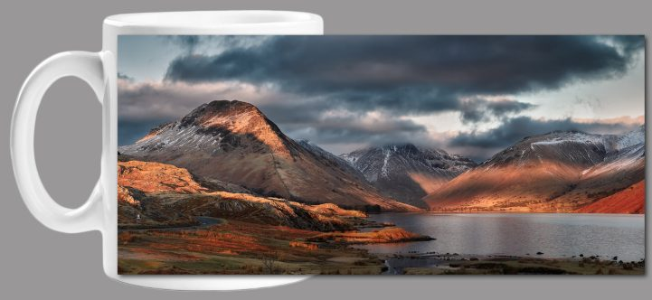 Winter Sun Over Wast Water - Mug