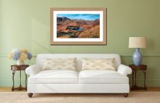 Winter Sun Over Blea Tarn - Framed Print with Mount on Wall
