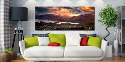 Sun Rays Over Cat Bells - Canvas Print on Wall