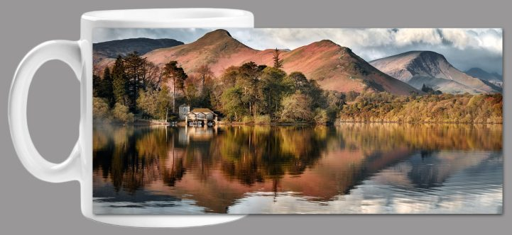 Derwent Boathouse and Cat Bells - Mug