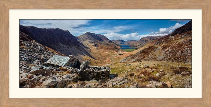 Warnscale Bothy and Buttermere Valley - Framed Print with Mount