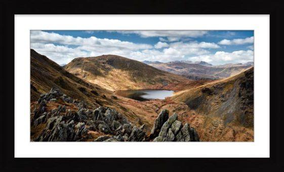 Grisedale Tarn Bowl - Framed Print