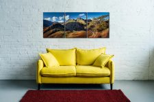 Langdales and Side Pike - 3 Panel Canvas on Wall
