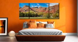 Dungeon Ghyll Panorama - 3 Panel Wide Mid Canvas on Wall
