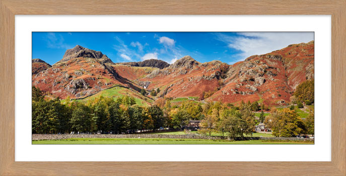 Dungeon Ghyll Panorama - Framed Print