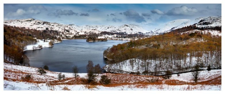 Grasmere Winter Panorama - Lake District Print