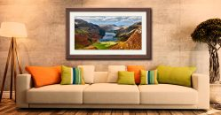 Buttermere From Fleetwith Pike - Framed Print with Mount on Wall