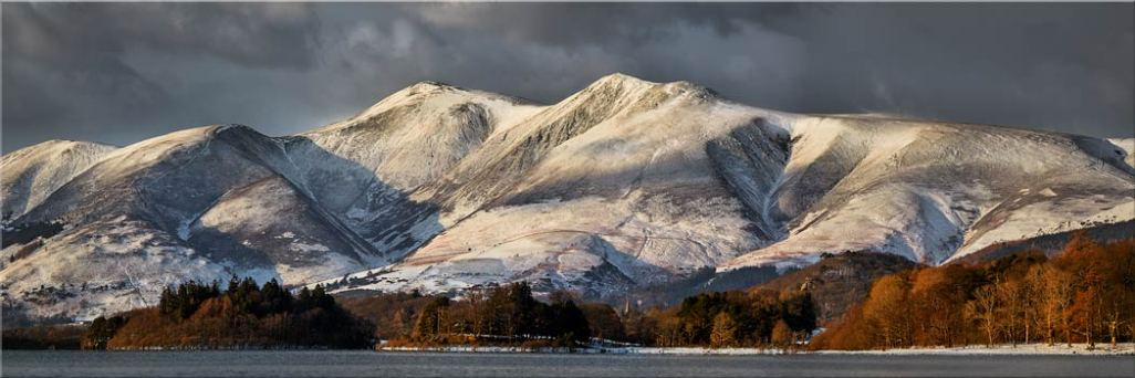 Skiddaw Winter Panorama - Canvas Print