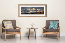Skiddaw Winter Panorama - Framed Print with Mount on Wall