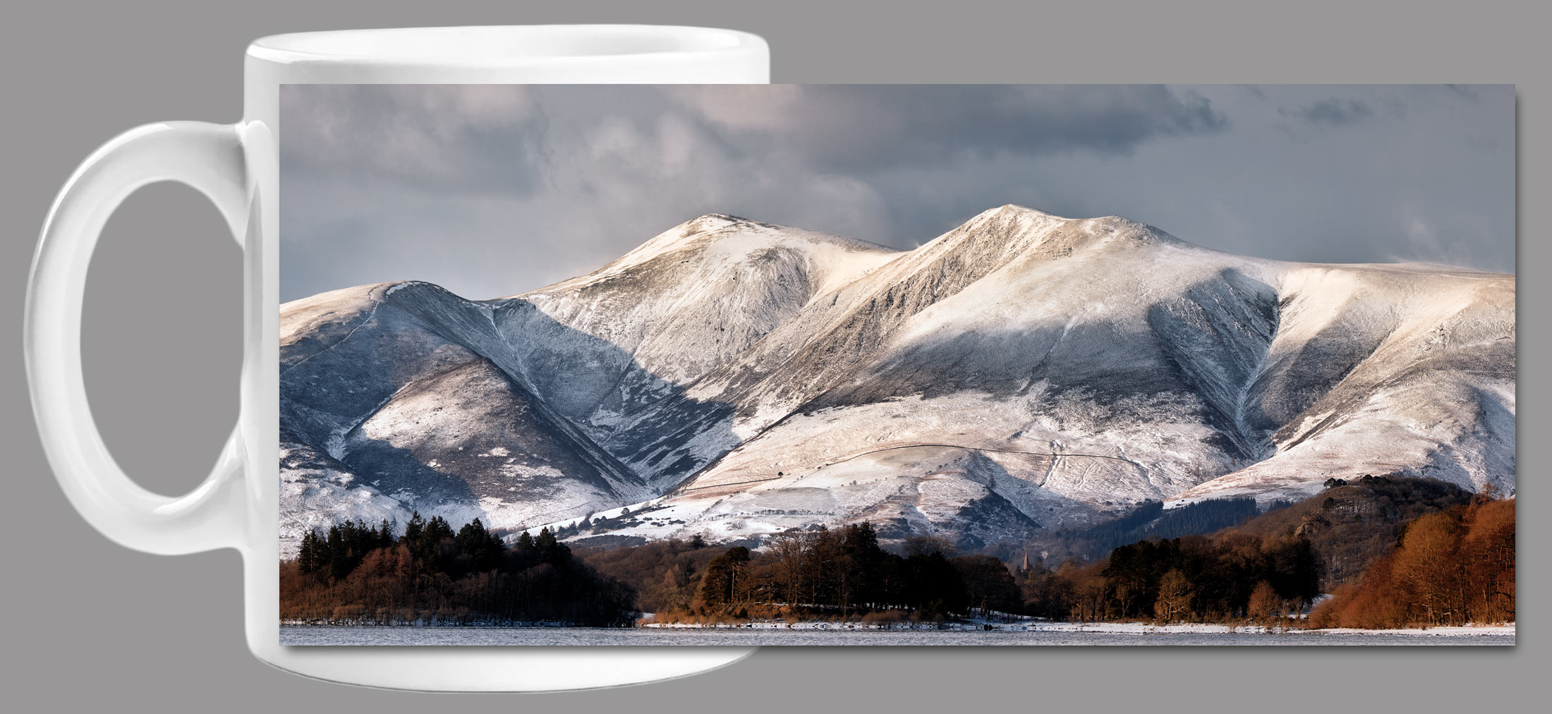 Skiddaw Winter Panorama - Mug