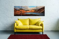 Wast Water Late Sun - 3 Panel Wide Mid Canvas on Wall