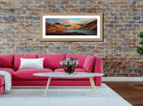 Wast Water Late Sun - Framed Print with Mount on Wall