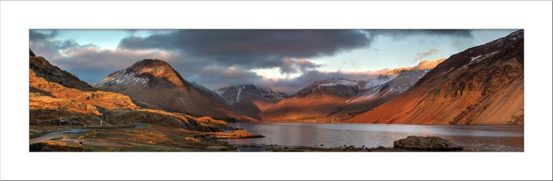 Winter Sun Over Wast Water - Mounted Print