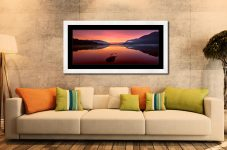 Ullswater Golden Sunrise - Framed Print with Mount on Wall