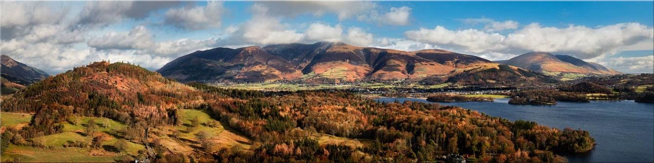 Keswick and Skiddaw Panorama - Canvas Prints