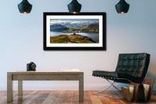 Gowbarrow to Martindale - Framed Print with Mount on Wall