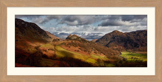 Castle Crag Winter Sunshine - Framed Print