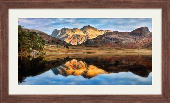 Blea Tarn and Langdale Pikes - Framed Print