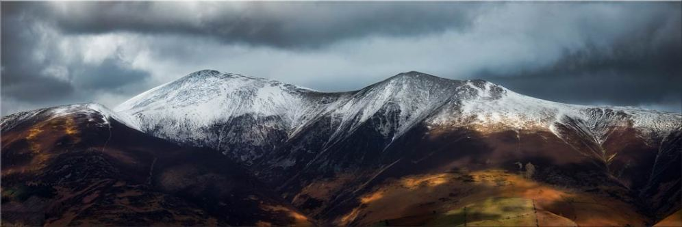 Snow Capped Skiddaw - Canvas Print