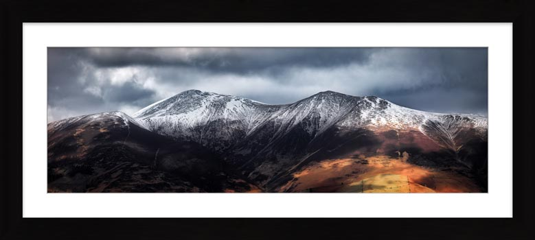 Snow Capped Skiddaw - Framed Print