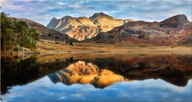 Blea Tarn and Langdale Pikes - Canvas Print