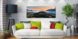 Dawn Mists Over Bassenthwaite Lake - Print Aluminium Backing With Acrylic Glazing on Wall
