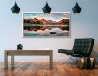 Cat Bells Red Dawn - White Maple floater frame with acrylic glazing on Wall