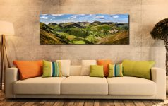 Deepdale and Dovedale Panorama - Print Aluminium Backing With Acrylic Glazing on Wall