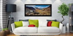 Warnscale Bothy and Buttermere Valley - Black oak floater frame with acrylic glazing on Wall