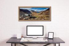 Warnscale Bothy and Buttermere Valley - Oak floater frame with acrylic glazing on Wall