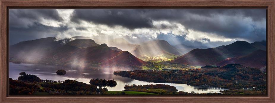Sunbeams Over the Derwent Fells - Modern Print